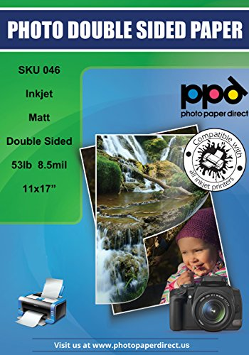 PPD Inkjet Matte Double Sided Heavyweight Paper 11 x 17