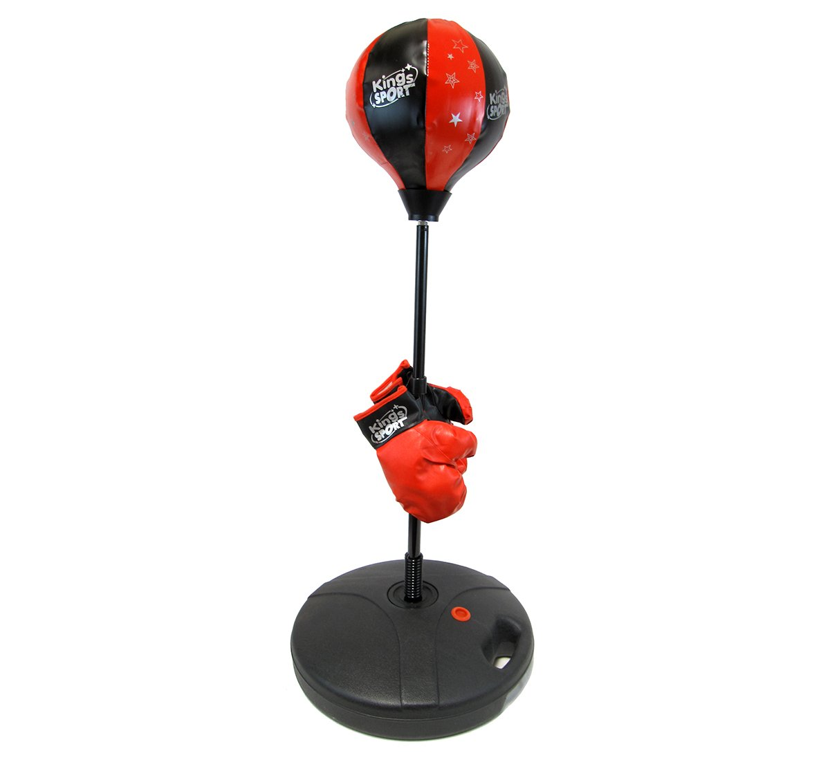 Velocity Toys Children's Beginning Freestanding Reflex Punching Bag w/ Pair of Gloves, Adjustable Height 48''''