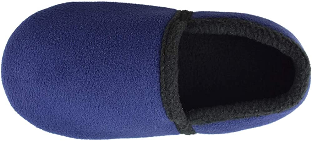 Tirzrro Little//Big Kids Warm Plush Fleece Slippers with Soft Memory Foam Slip-on Indoor Shoes