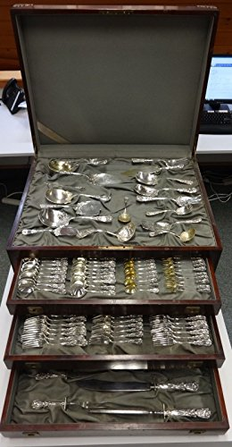Durgin Sterling Iris - Iris & New Art by Durgin Sterling Silver Flatware Set Service Nouveau 194 Pieces