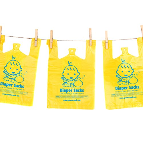 Controlled Life Scented Baby Disposable Diaper Bags (with convenient handle ties), 300-Count (Mega Pack)