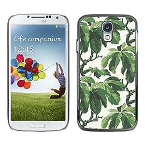 X-ray Impreso colorido protector duro espalda Funda piel de Shell para SAMSUNG Galaxy S4 IV / i9500 / i9515 / i9505G / SGH-i337 - Summer Tree Leaves Wallpaper Pattern