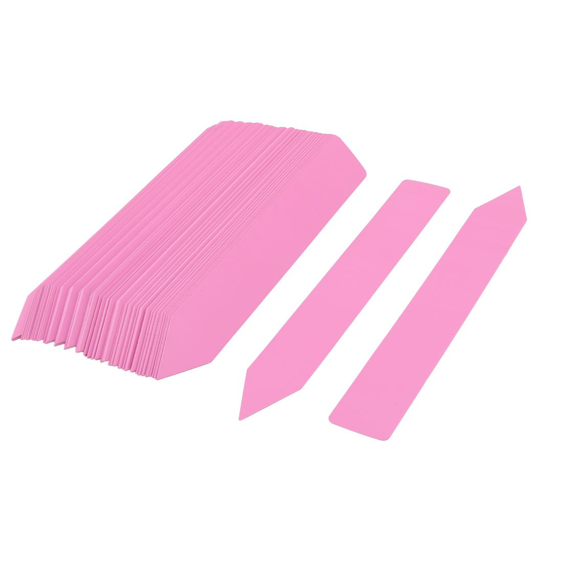 uxcell Plastic Household Garden Plant Seeds Name Marking Tag Label 3cm Width 100 Pcs Pink