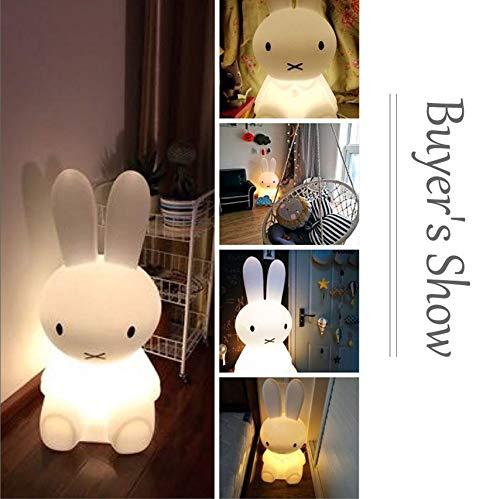 50cm lapin led nuit lumi/ère dimmable pour b/éb/é enfants cadeau animal de bande dessin/ée bureau table lampe chambre chevet b/éb/é jouet lumi/ère
