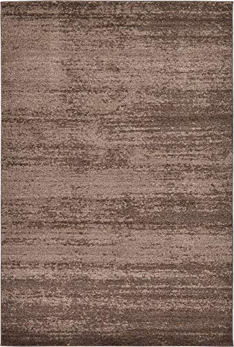 Unique Loom Del Mar Collection Contemporary Transitional Brown Area Rug (6' 0 x 9' 0) Brown Transitional Area Rug