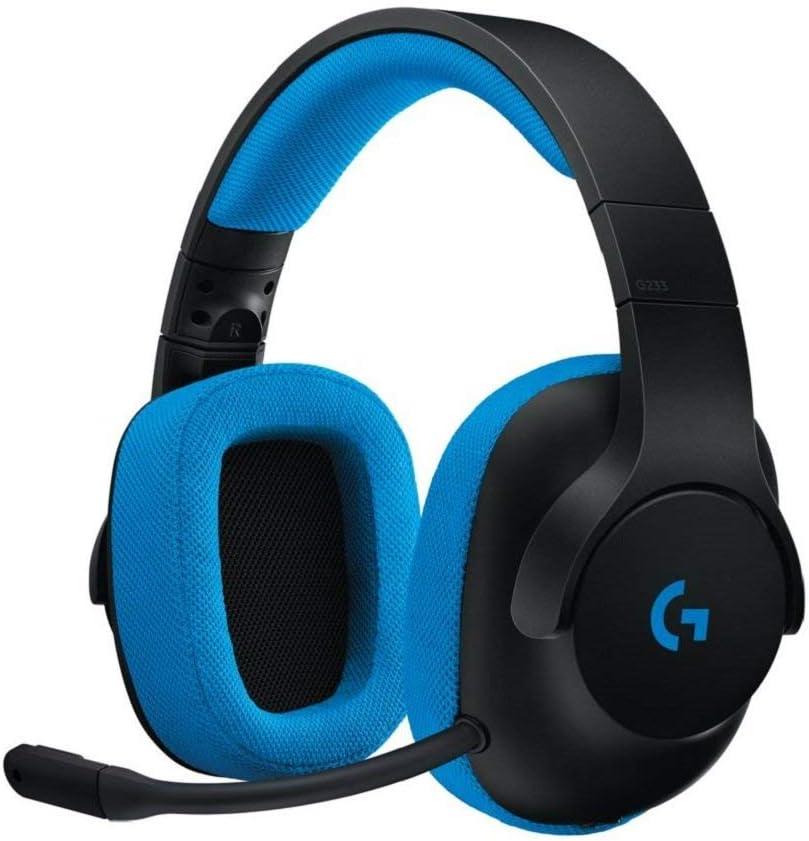 Logitech G G233 Prodigy Wired Gaming Headset - Black/Cyan - 3.5 MM - N/A - EMEA