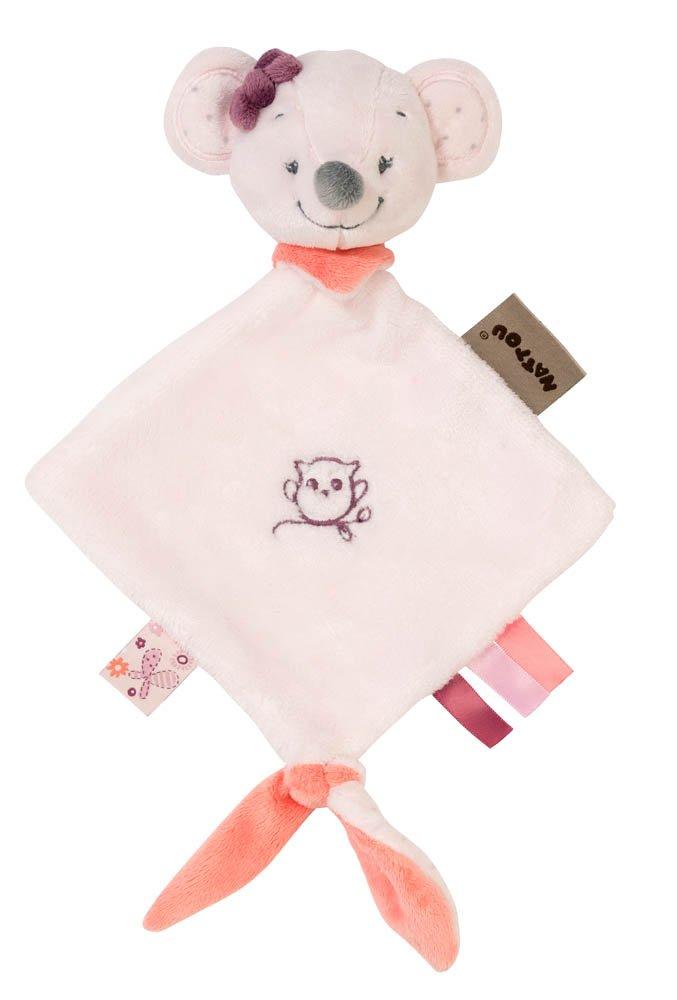 Nattou Kleine Schnuffeltuch Mädchen, 25 x 20 cm, rosa - Adèle der Elefant 424141