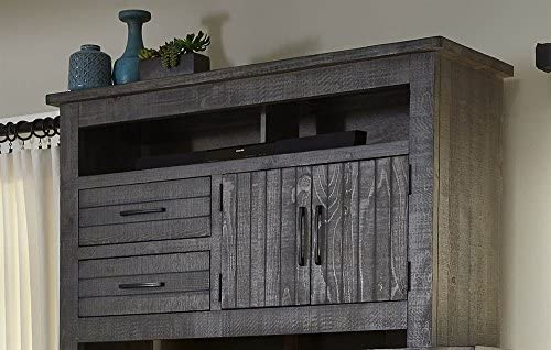 Progressive Furniture Nest Entertainment, Distressed Dark Gray