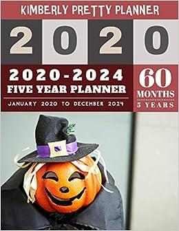 Internet Halloween 2020 5 Year Monthly Planner 2020 2024: five year monthly planner