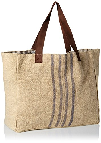 'ale By Alessandra Women's Le Marche French Market Inspired Bag Khaki/blue One Size Ale By Alessandra Womens Accessories