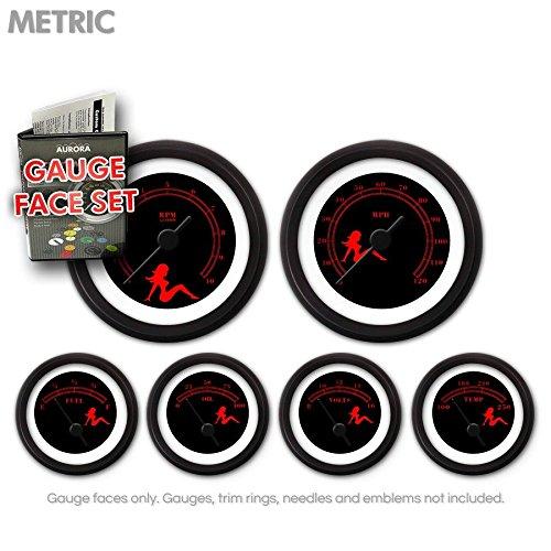 UPC 802269117709, Aurora Instruments (GARFM73) Mudflap Red/Black Gauge Face Set