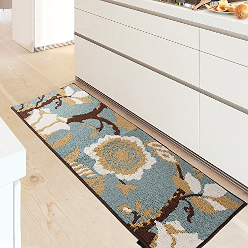 MustHome Kitchen Rug Non Slip Rubber Backing Kithcen Floor Mat/Runner Mat Perfect in Front of Sink and Dishwasher (18