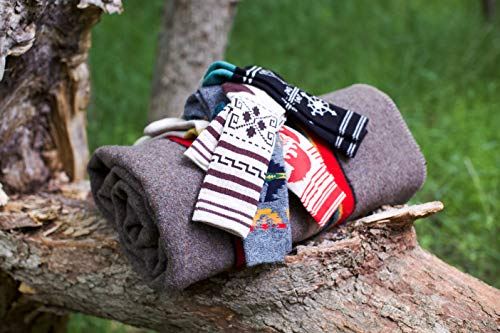 Pendleton Women's Camp Crew Socks, San Miguel Grey, Medium (Fits Women's  6-10/ Men's 5-9)