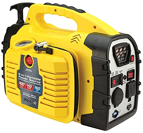 Rally Portable 8 in 1 Power Source and Jumpstarter Unit with Hand Generator (7471) (Portable Air Power)