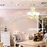Discount4Product 30 Strings Crystal Strings Bead Hanging Curtain Glass Drops Curtain Partition Spaces Wedding Decoration Home Hotel Shop Decoration