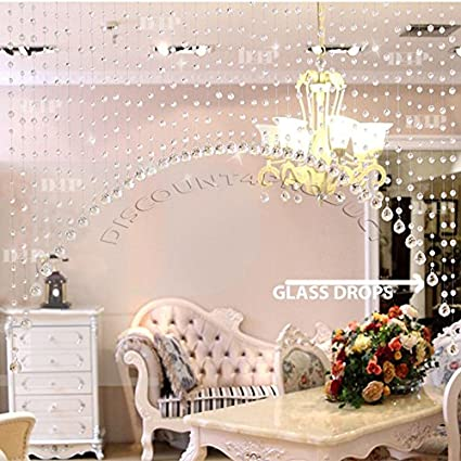 Buy discount4product 30 strings crystal strings bead hanging curtain discount4product 30 strings crystal strings bead hanging curtain glass drops curtain partition spaces wedding decoration home junglespirit Choice Image