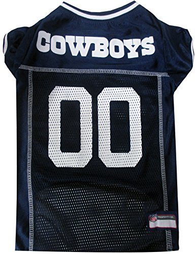 Pets First NFL Dallas Cowboys Pet Jersey, Large
