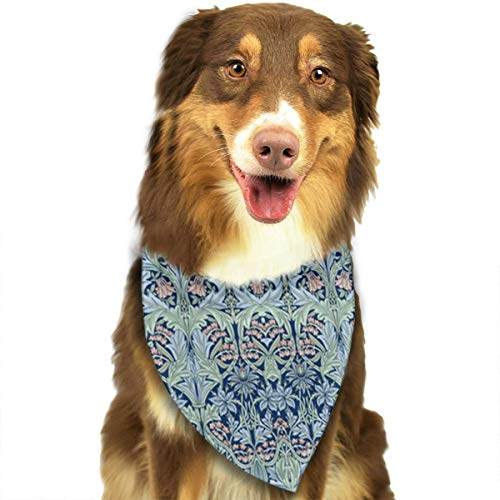 Dog Bandana Scarf Bluebell Columbine Funny Novelty Classic Triangle Bibs Kerchief Set Accessories for Cats Pets Animals ()