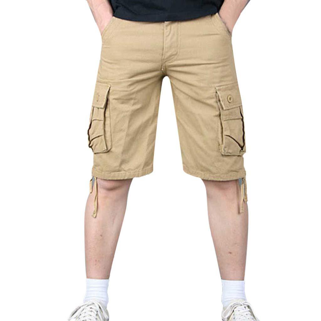 Alangbudu Mens Cargo Lightweight Short Twill Relaxed Fit Multi-Pocket Outdoor Athletic Big /&Tall Jammer Hiker Trunks