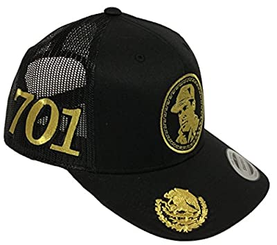 El Chapo Guzman Hat Black Mesh Snapback 4 Logos