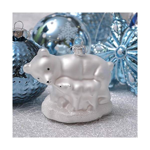 Valery Madelyn Palle di Natale Vetro Addobbi Natalizi Set, 10 Pezzi 8-12cm White And Blue Palline di Natale Decoration for Addobbi Natalizi per Albero 5 spesavip