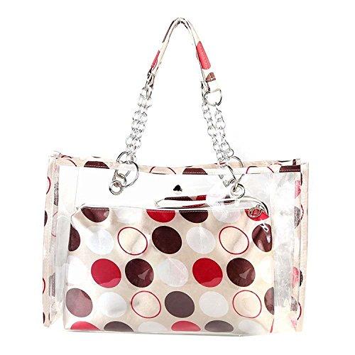 TOOGOO(R)Transparent Beach Bag Fashion Swimwear Wallet Shoulder Bags Casual Work Bag for Women