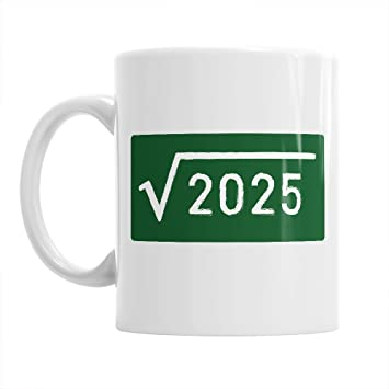 45th Birthday Gift Square Root 2025 Gifts For Men Women 1971 Coffee Mug Amazoncouk