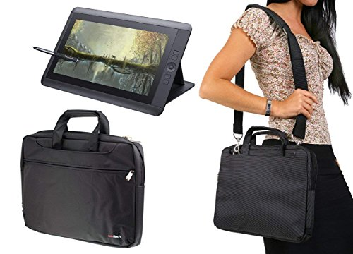 Navitech Black Graphics Tablet Case/Bag For The HUION KAMVAS GT-156HD V2 15.6'' Graphics Drawing Tablet Monitor
