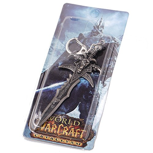 (VWJewelry WOW Key Chain World of Warcraft Keychain Frostmourne King Ring Length 4.7)