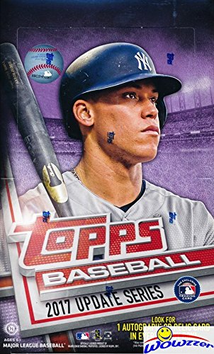 2017 Topps Update MLB Baseball MASSIVE 36 Pack Factory Sealed HOBBY Box with 360 Cards & AUTOGRAPH or RELIC! Look for Rookies, Variations & Autographs of Cody Bellinger, Aaron Judge & Many More! (Box Topps Mlb)
