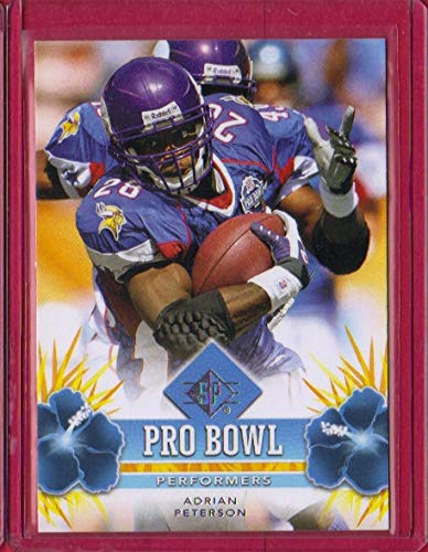 (2008 SP Authentic Retail Pro Bowl Performers #PBP2 Adrian Peterson )