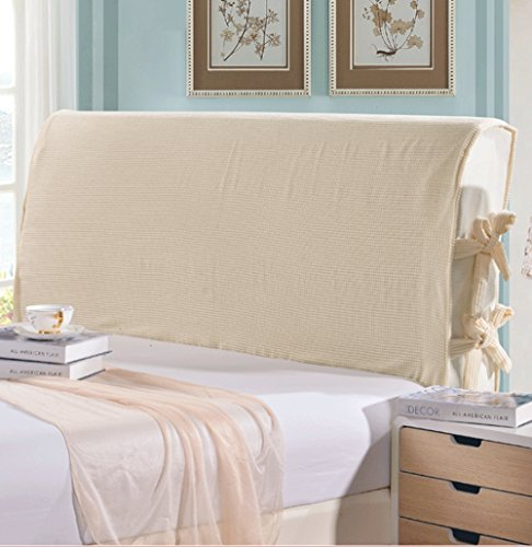Pangzi Solid Bed Headboard Slipcover Protector Stretch Dustproof Cover for Bedroom Decor (King, ()
