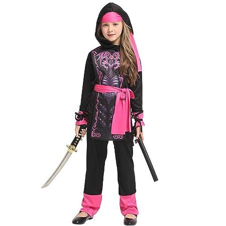 Disfraz De Samurai para Niños Cosplay Disfraz De Ninja Femenino ...