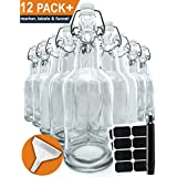 Clear Glass Bottles 12 pack