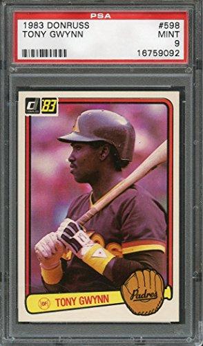 1983 donruss #598 TONY GWYNN san diego padres rookie card PSA 9 Graded Card