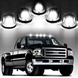 06 dodge ram 2500 cab lights - 5x Cab Marker Roof Running Clearance Lights Clear Lens w/ build-in White 9 LED Assembly for 03 - 16 Dodge Ram 1500 2500 3500 Pickup Trucks