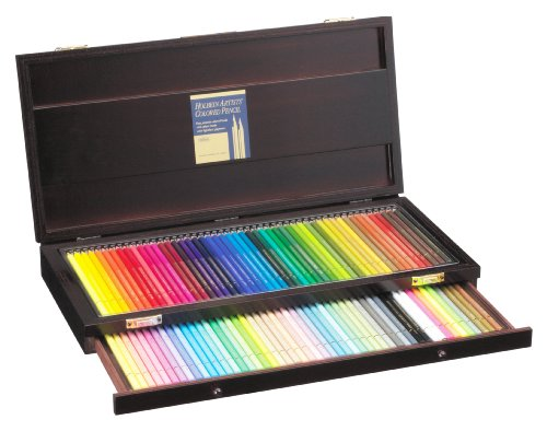 Holbein Artist Colored Pencil 100 Colors Set wooden box by Holbein