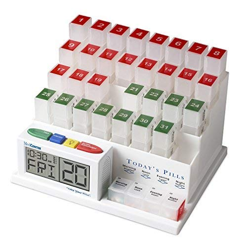 (MedCenter (70265) 31 Day Pill Organizer with Reminder System )