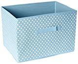Furinno 3-SD11144BL Laci Dot Non-Woven Fabric Soft Storage Organizer (3 Pack), Small, Blue
