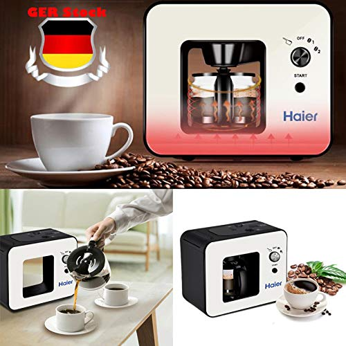 (Celendi Haier Brew Automatic Coffee Makers 4 Cup with Grinder Espresso Coffee Machines Bean Grinder)