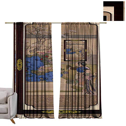 Thermal Curtains Australia - Circa 1989 A Stamp Printed in Australia Shows The Annunciation to The Shepherds, from The Wharncliffe Hours, Series, Circa W72 x L96 Blackout Curtains for Bedroom (Double Hook Circa)
