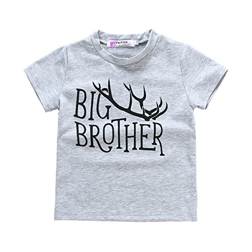 GRNSHTS Baby Boys 2 Style Deer Print T-Shirt Romper Twins Brother Suit (120/2-3 Years, Z Big - Brothers Twins