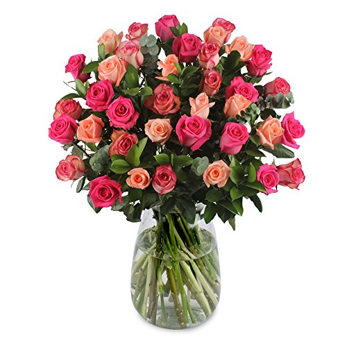eFlowy 40 Pink Roses for a Special Ocassion by eFlowy