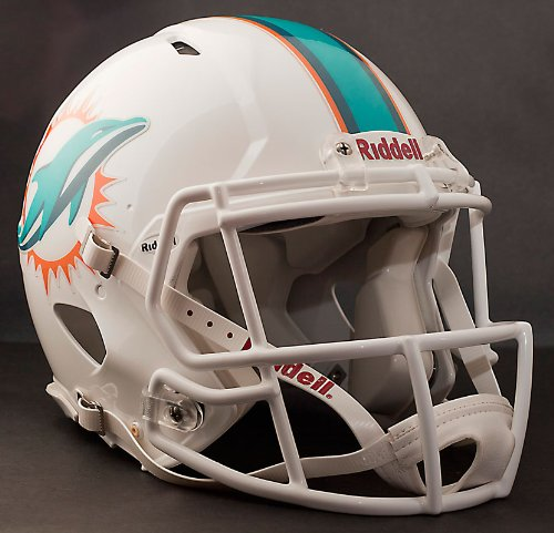 Miami Dolphins Riddell Speed Revolution Full Size Authentic NFL Proline Football Helmet - New 2013 Helmet