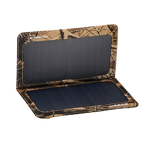 Foldable Solar Charging Panel (ECEEN 13W Solar Charger Foldable Portable Solar Panel With Dual USB Output Charge for Iphones, Smartphones, Tablets, GPS Units, Bluetooth Speakers, Gopro Cameras, And other 5V USB-Charged)