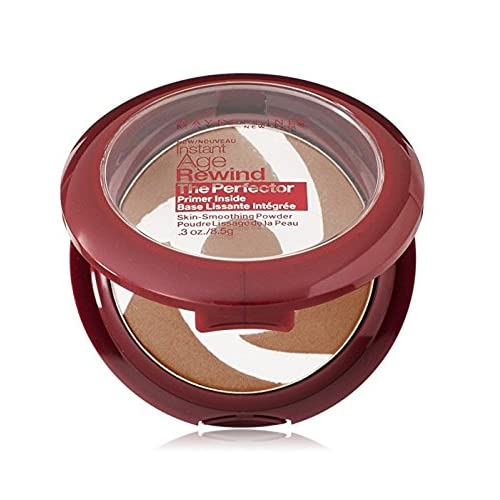 Maybelline New York Instant Age Rewind The Perfector Powder, Deep, 0.3 Ounce + FREE Curad Bandages 8 Ct.