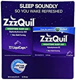 ZzzQuil Nighttime Sleep-Aid 72ct LiquiCaps