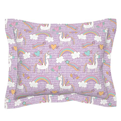100/% Cotton Fabric UNICORN HEART STAR RAINBOW BLUE PINK Childrens Kids Material