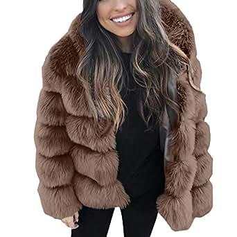 Imagen no disponible. Imagen no disponible del. Color  Linlink Abrigo de  Mujer Temporada De OtoñO E Invierno VisóN Abrigos Invierno Capucha Chaqueta De  Piel cb928d14e4ed