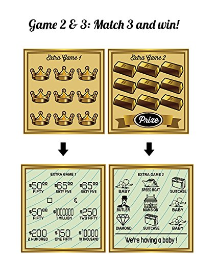 5PK Pregnancy Announcement Replica Scratch Off Cards | Perfect Keepsake For Announcing Pregnancy by Golden Rainbow (Image #6)